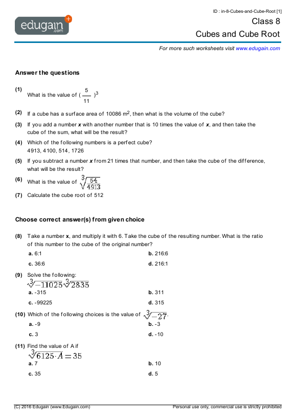 Maths For 4 Year Olds Worksheets – Maths Worksheets for 8 Year Olds