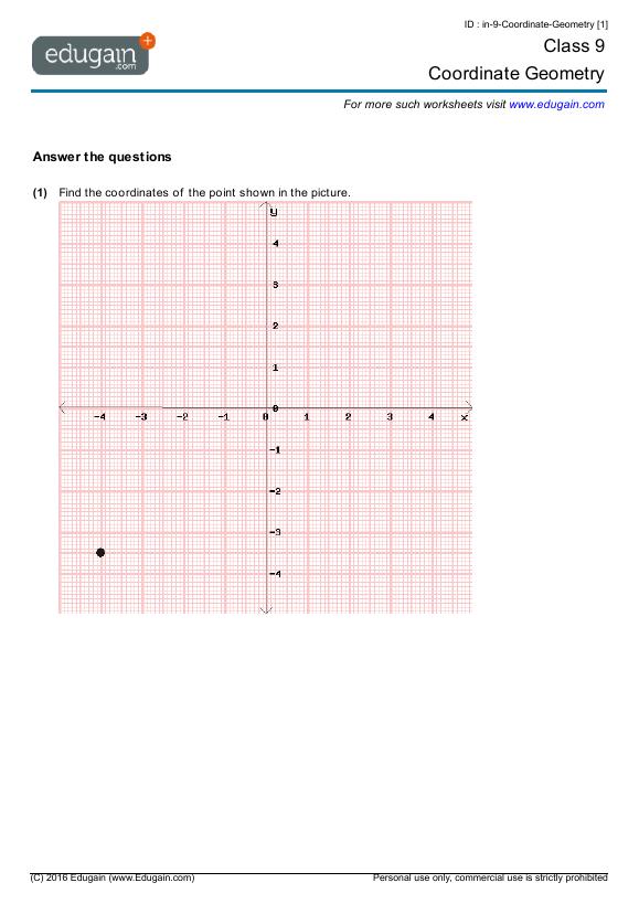year 9 math worksheets and problems coordinate geometry edugain australia. Black Bedroom Furniture Sets. Home Design Ideas